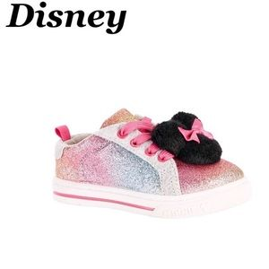 Minnie Mouse glitter Pom sneakers size 7